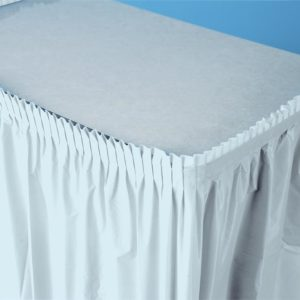 "Pastel Blue 14'x29"" Plastic Table Skirts"