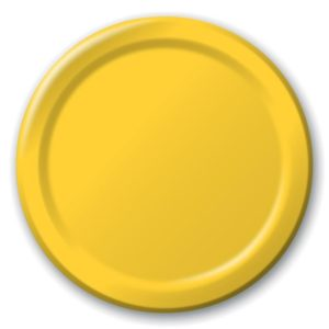 "School Bus Yellow 7"" Luncheon Paper Plates"