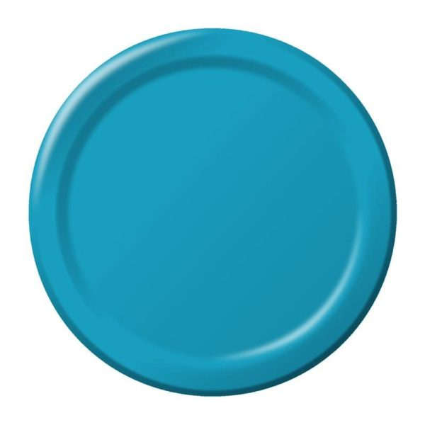 "Turquoise 7"" Luncheon Paper Plates"