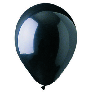 "12"" Crystal Black Latex Balloons"
