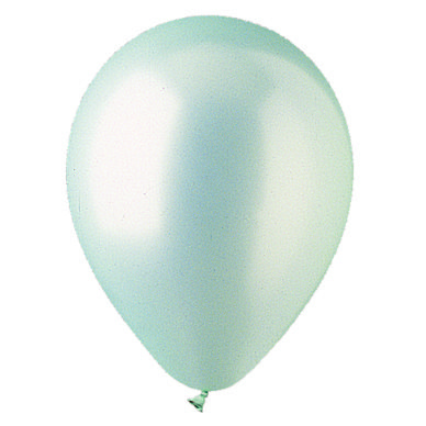 "12"" Metallic Silver Latex Balloons"