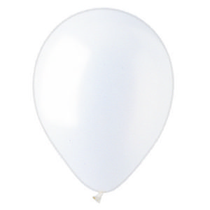 "12"" Pearlized White Latex Balloons"