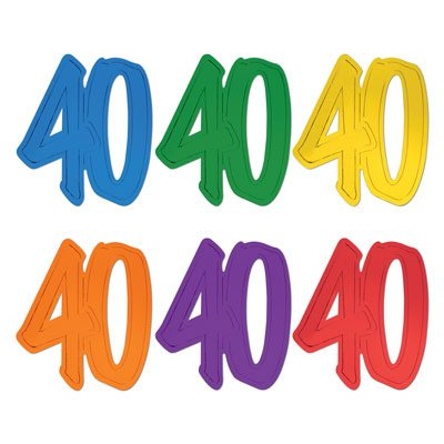 40 Number Silhouettes