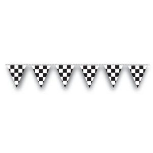 Black-White Checker 100ft Pennant Strings