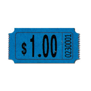 Premium Blue $1.00 Roll Tickets