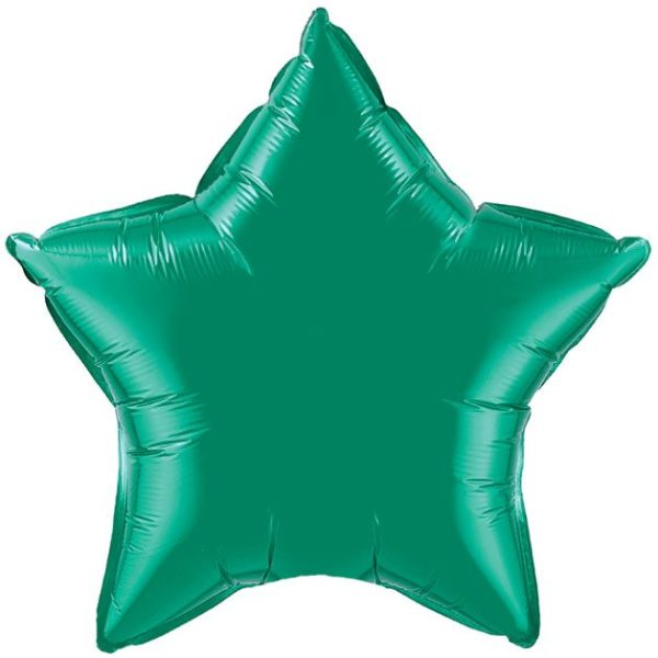"20"" Star Emerald Green Foil Balloons"