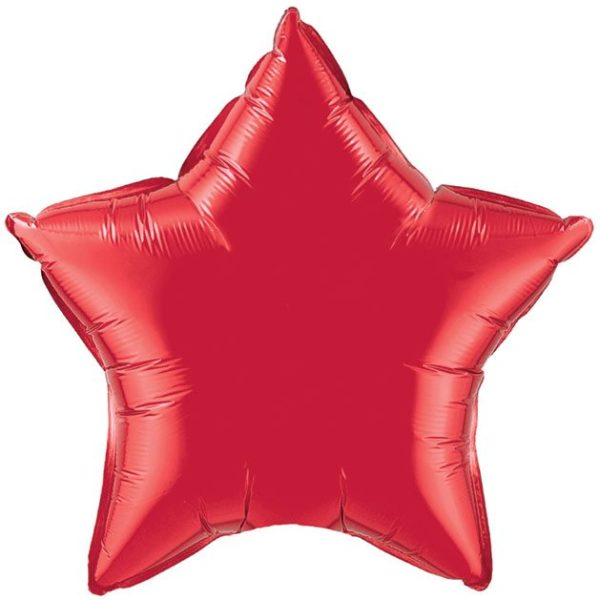 "20"" Star Ruby Red Foil Balloons"