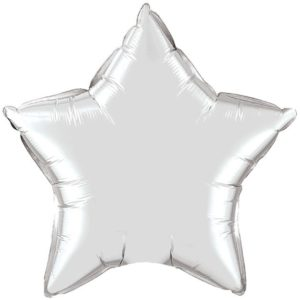 "20"" Star Silver Foil Balloons"