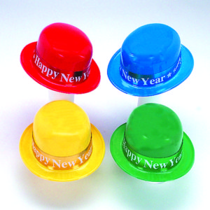 Plastic Happy New Year Derby with Foil Band