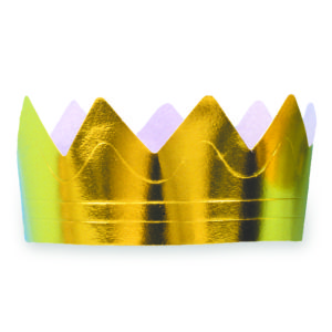 Foil Gold Crown Full Head Size