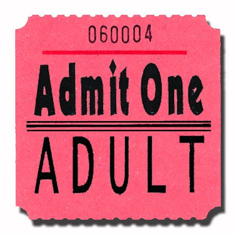 Admit One Adult Roll Tickets Pink