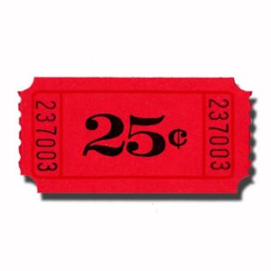 $.25 Single Roll Tickets Red