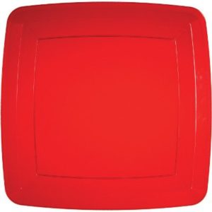 Plastic Square Plate Red