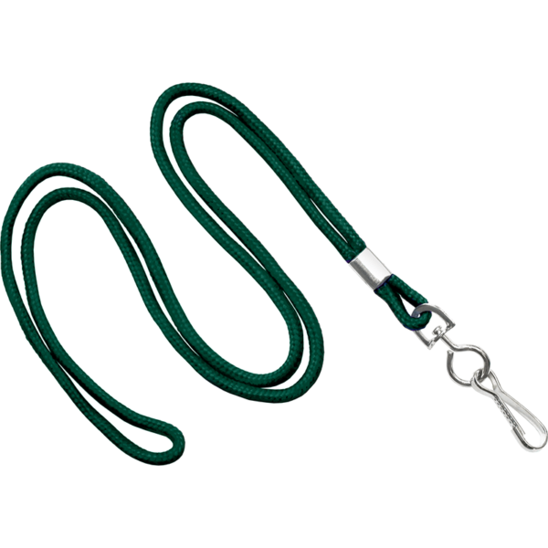 Round Teal Lanyard with Swivel Clip