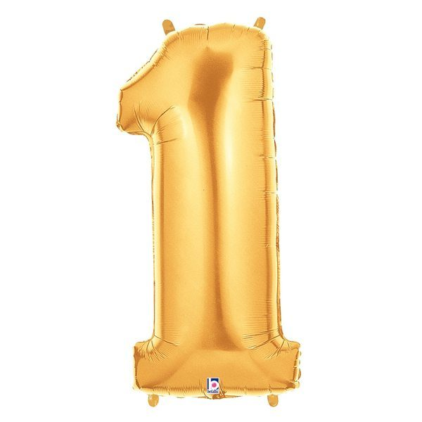 Jumbo Number 1 Gold Foil Balloon