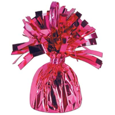 Cerise Foil Fringed Weight