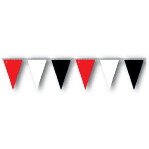 Red White Black Pennant Stringer