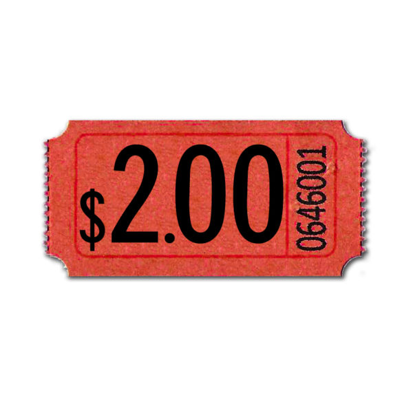 Red Premium $2.00 Roll Tickets