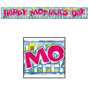 Happy Mother's Day Metallic Banner